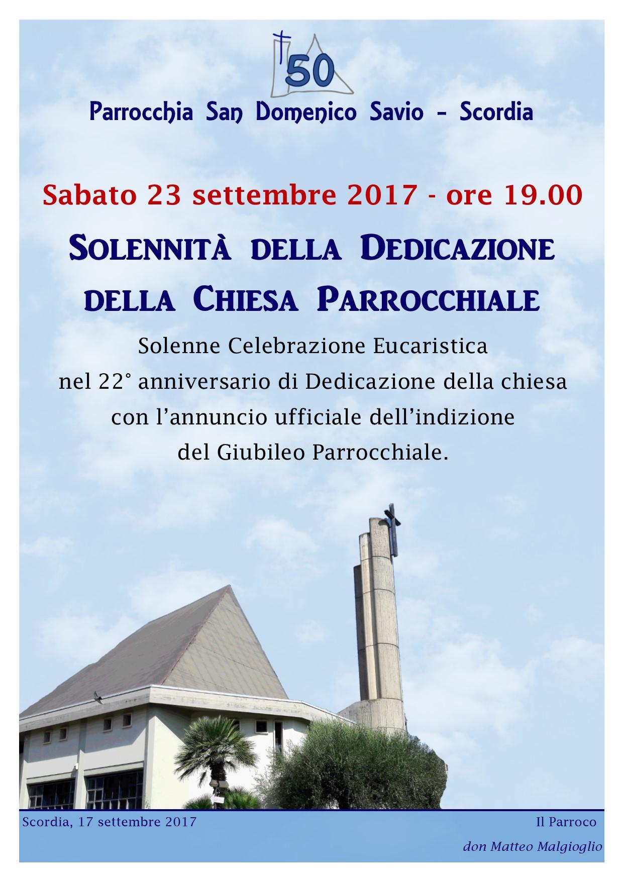 giubileo parrocchiale locandina annuncio